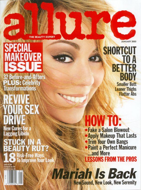Allure Magazine Cover January 2003 Meladine